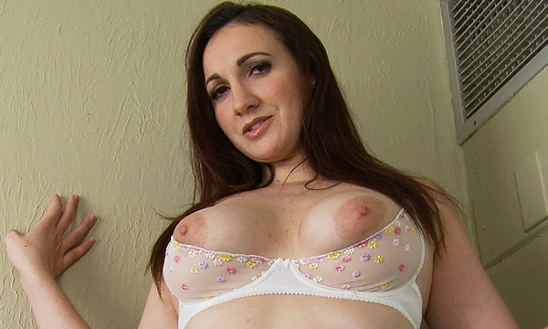 Angelique Kithos wearing an open cup bra