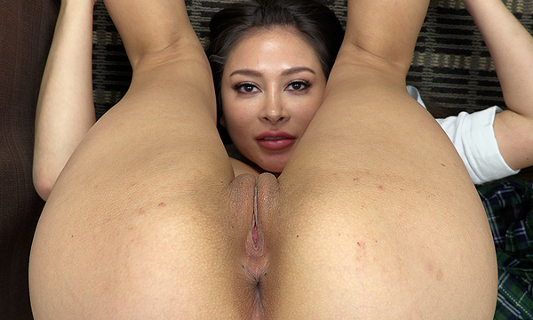 Bliss Dulce nude in piledriver position