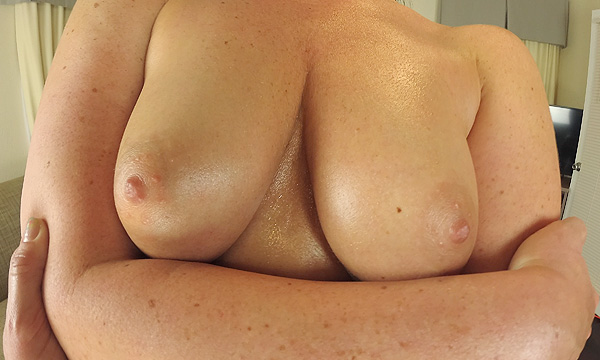 Close-up breasts shot of Brittany Shae