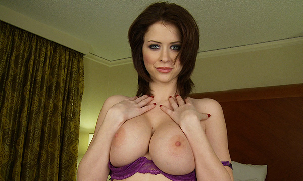 Emily Addison exposes her large breasts