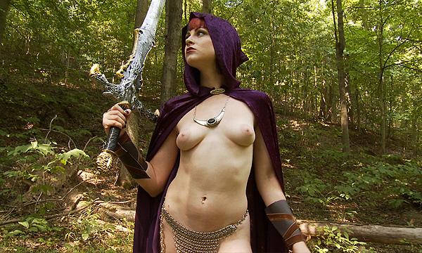 Hollis Ireland cosplaying as a female warrior