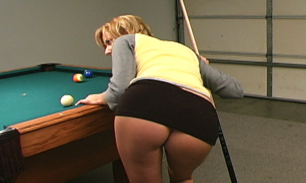 Micah Ashley upskirt while playing pool