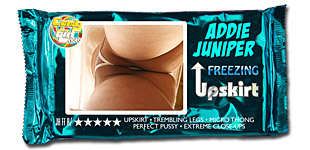 Addie Juniper - Freezing Upskirt video