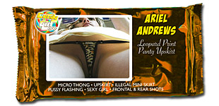 Ariel Andrews - Leopard Print Panty Upskirt video