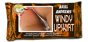 Ariel Andrews - Windy Upskirt video