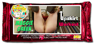 Maggie Green - Upskirt Workout video